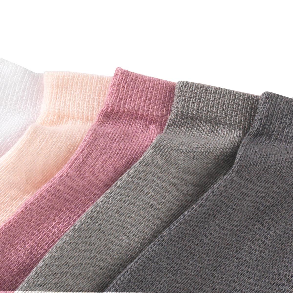 Комплект из 5 пар коротких носков из хлопкаLa Redoute<br>Комплект из 5 пар коротких носков R essentiel. 5 пар однотонных носков различного цвета.      Состав и описание               Материал  :    77% хлопка, 22% полиамида, 1% эластана     Марка  :    R essentiel          Уход      Машинная стирка при 30 °С в умеренном режиме Стирать с вещами схожих цветов<br><br>Цвет: розовый/ серый<br>Размер: 38/41