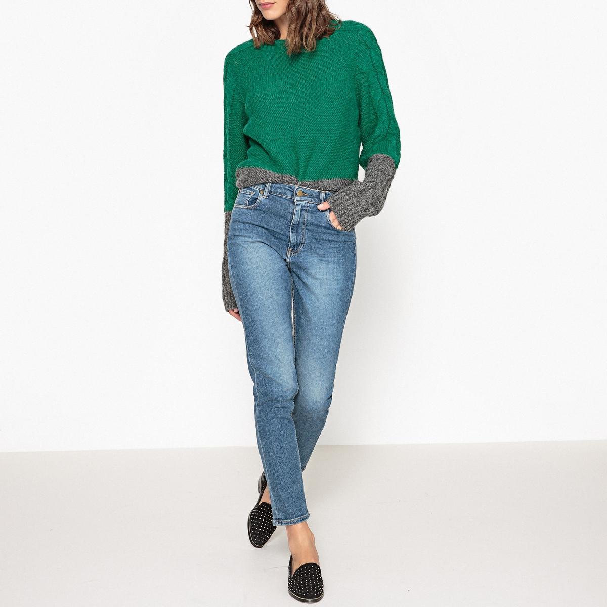 Пуловер двухцветный с бахромой MARCEL