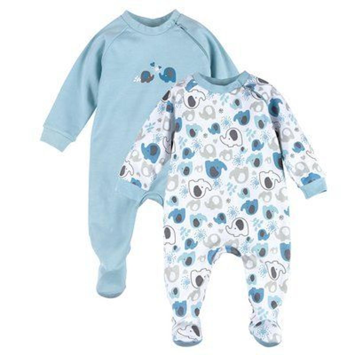 Bornino Lot de 2 dors-bien tenues de nuit bébé pyjama bébé