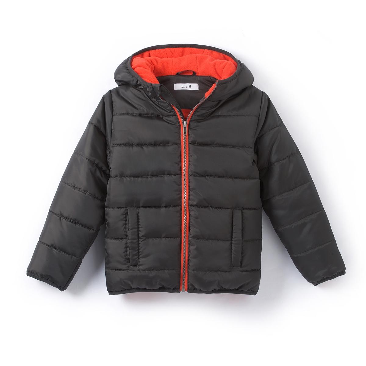 Куртка с капюшоном на флисовой подкладке, 3-12 летОписание:Детали •  Демисезонная модель •  Непромокаемое •  Застежка на молнию •  С капюшоном •  Длина : укороченнаяСостав и уход •  100% полиэстер •  Температура стирки 30°  •  Не гладить / не отбеливать  •  Барабанная сушка на деликатном режиме • Сухая чистка запрещена<br><br>Цвет: антрацит,красный темный<br>Размер: 3 года - 94 см.12 лет -150 см.10 лет - 138 см.8 лет - 126 см.6 лет - 114 см.5 лет - 108 см.4 года - 102 см