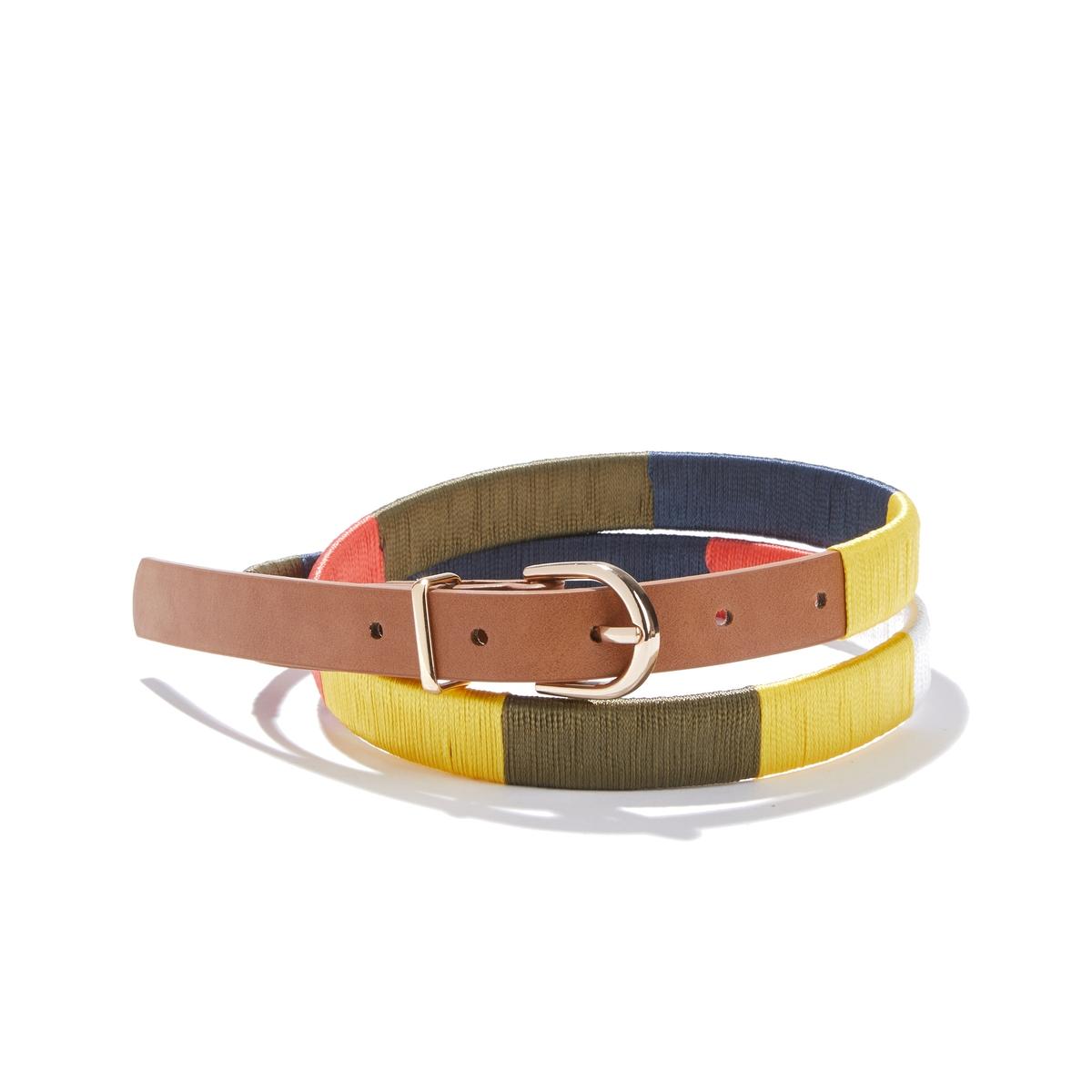 Cinturón fino multicolor