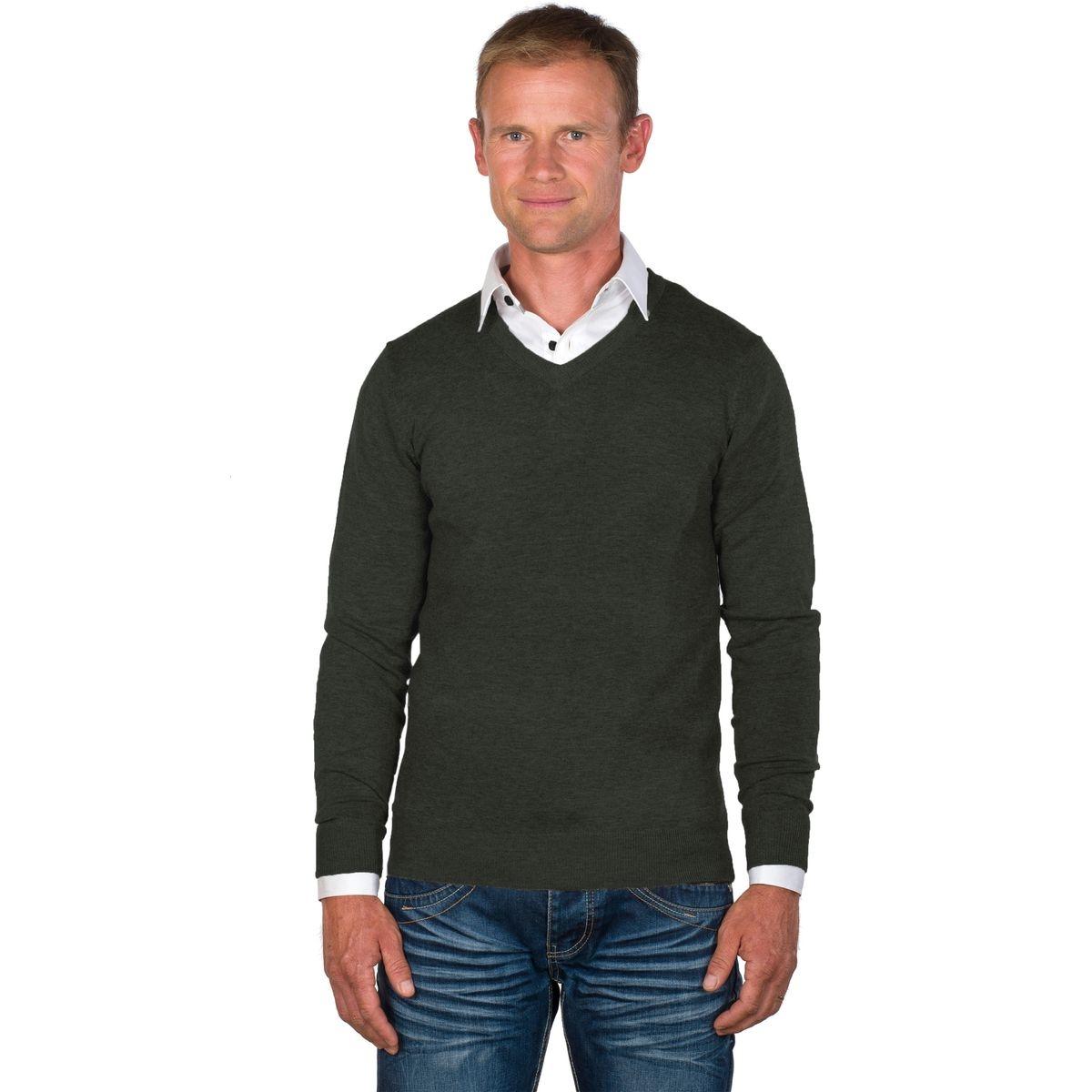 Pull chemise homme col V 2 en 1