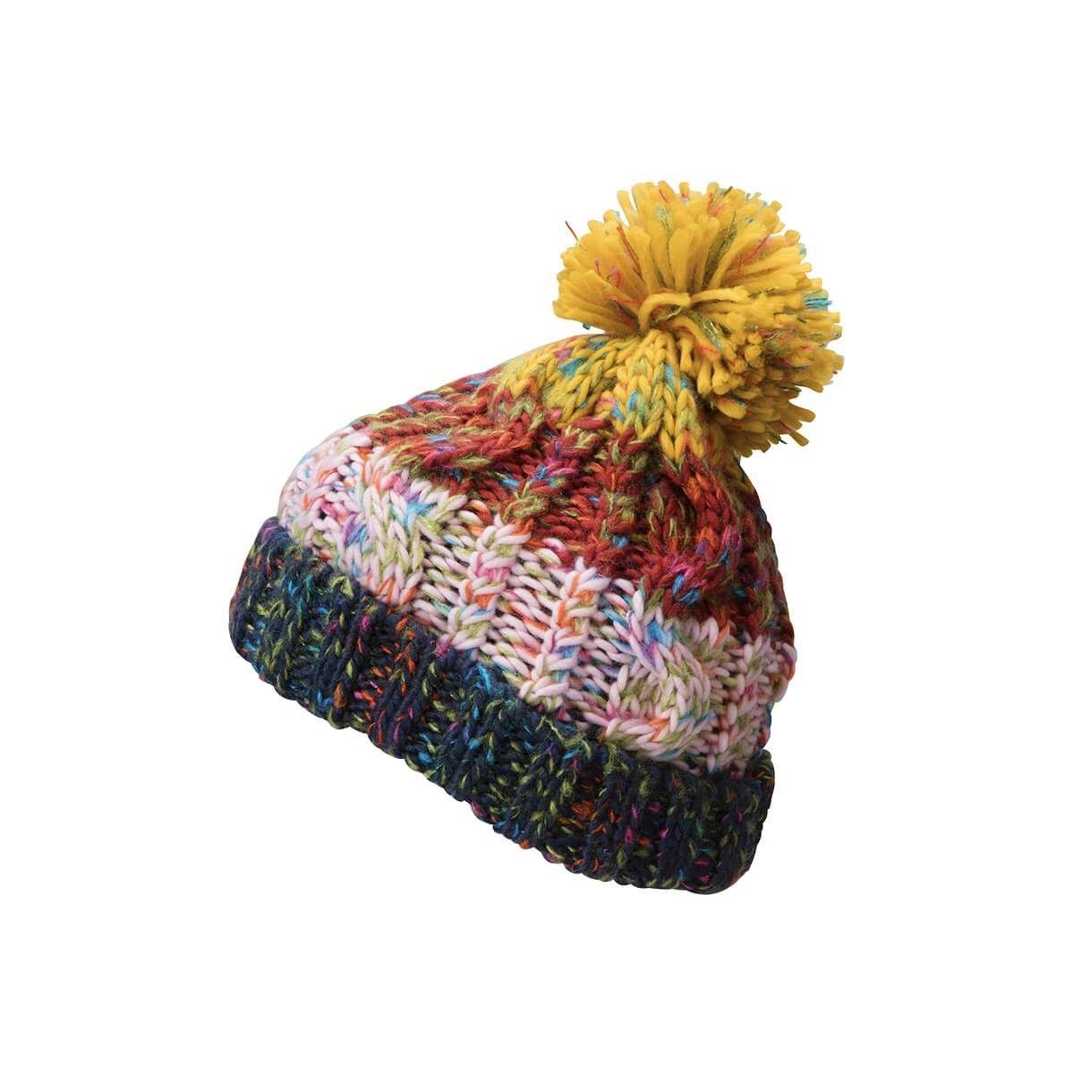 Bonnet coloré avec pompon