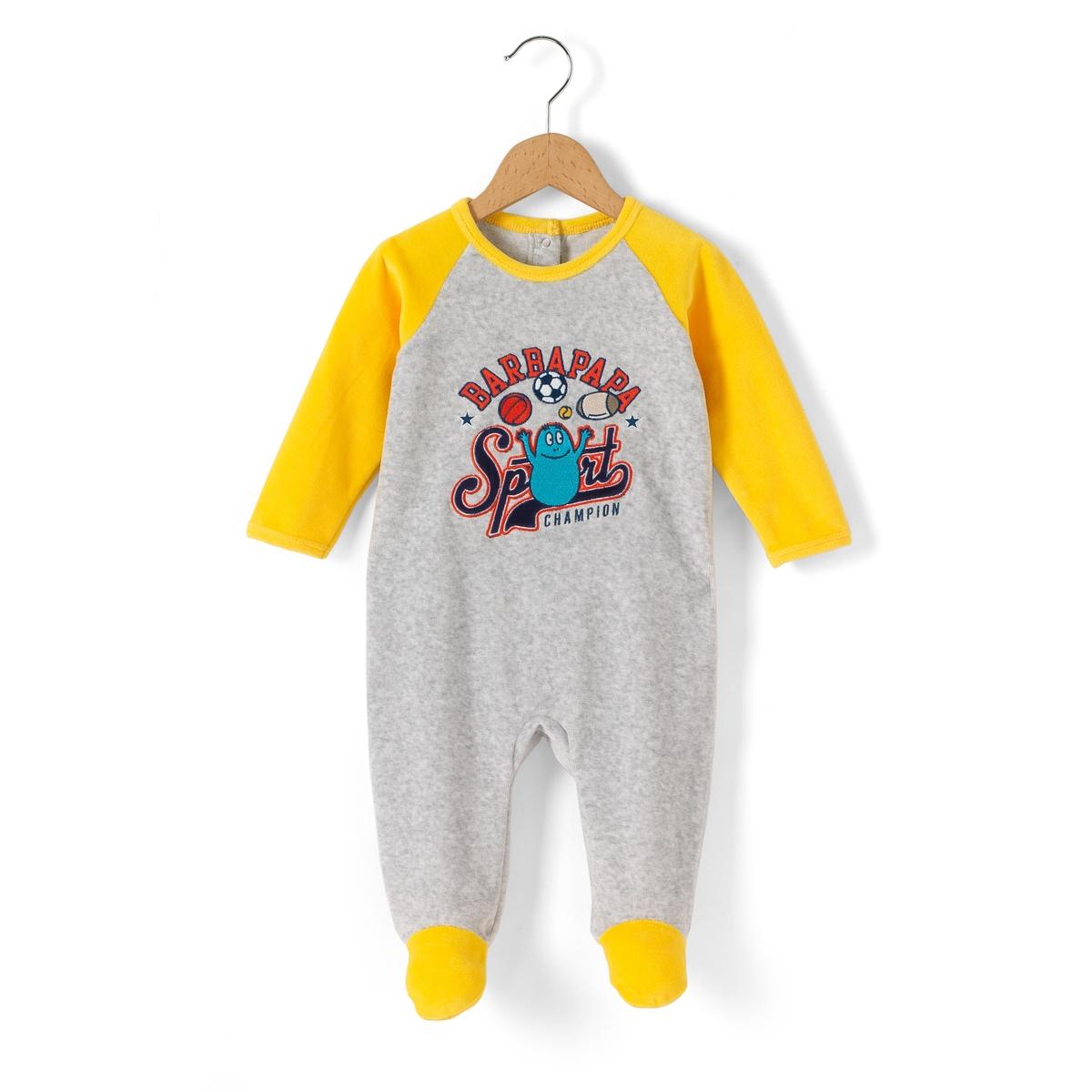 Пижама для мальчика, 3 мес. - 2 годаСостав и описание     Материал       80% хлопка, 20% полиэстера      Марка       BARBAPAPA          Уход     Следуйте рекомендациям по уходу, указанным на этикетке.<br><br>Цвет: серый/ желтый<br>Размер: 2 года - 86 см