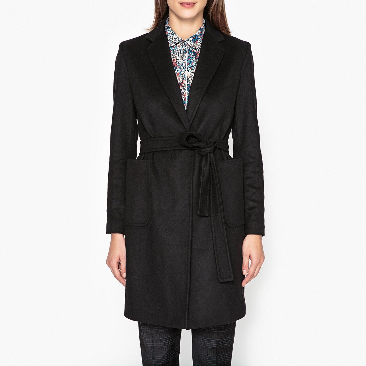 Пальто с поясом CARMEN пальто двухцветное с поясом 70% шерсти