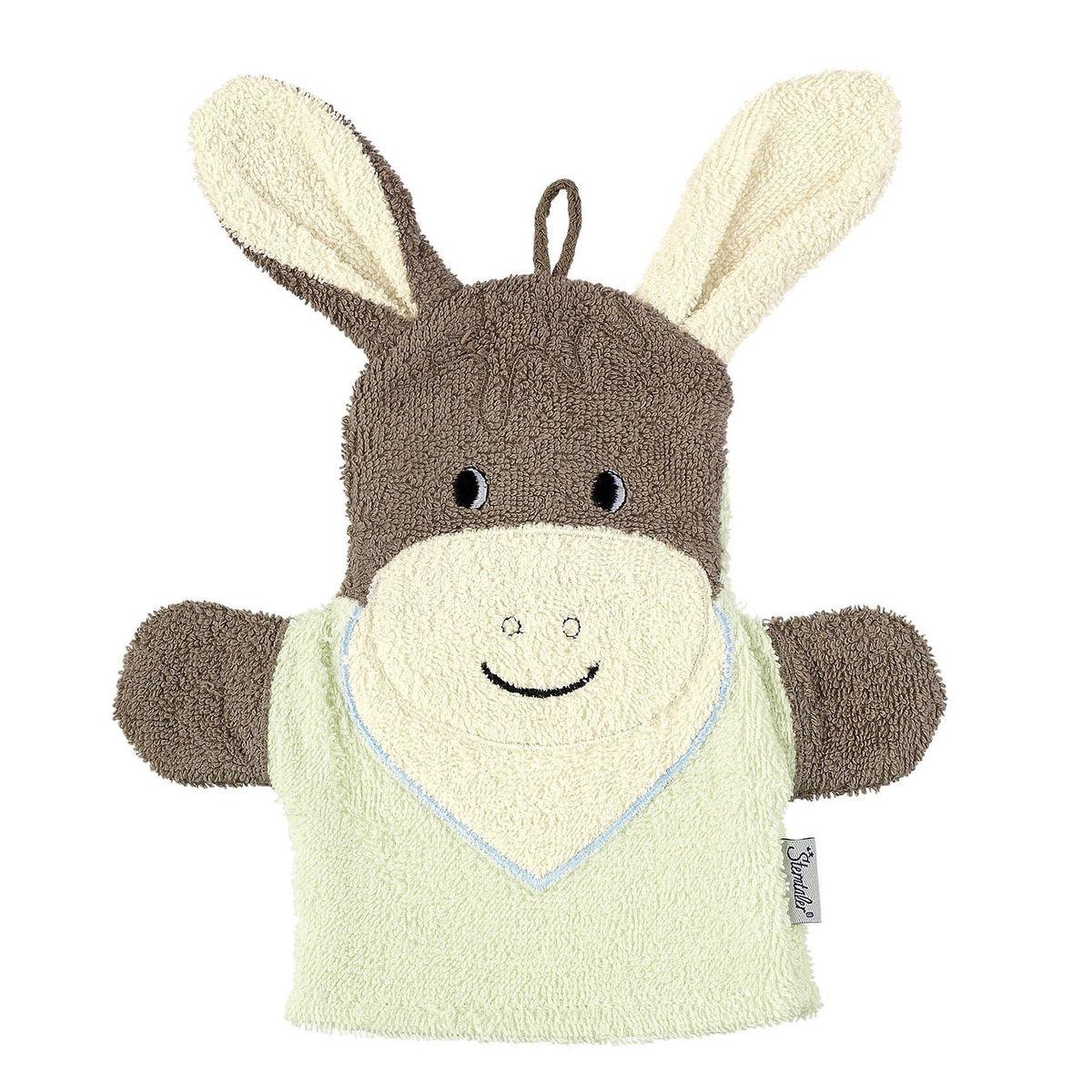 STERNTALER Le gant de toilette marionnette  Emmi  gant de toilette bébé