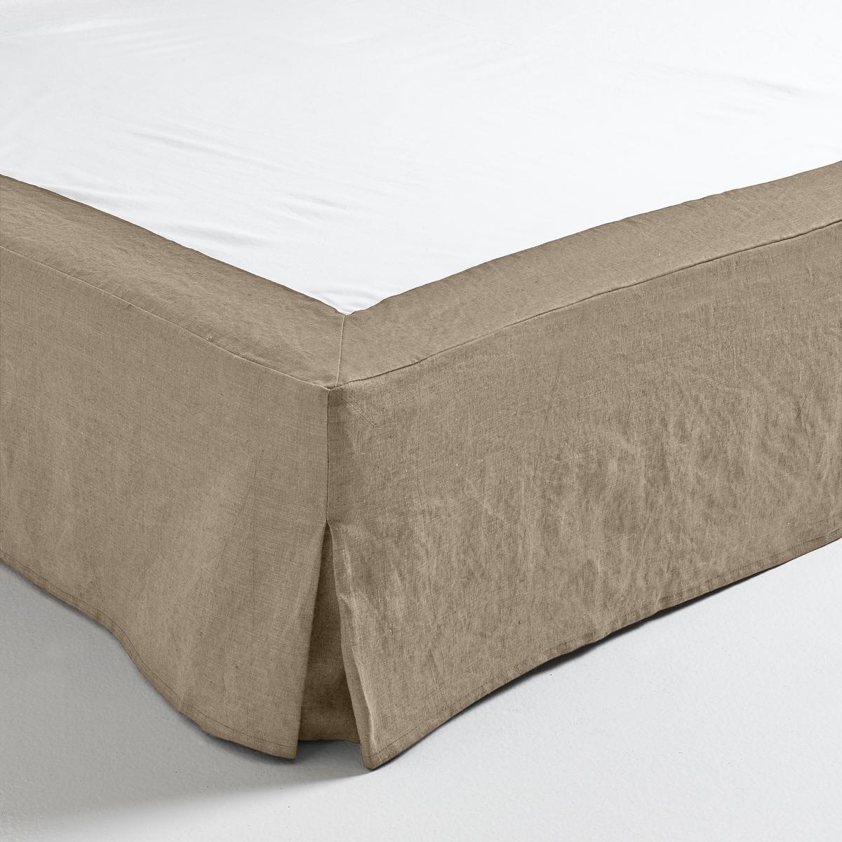 Чехол La Redoute Для кровати из пенькихлопка Lino 180 x 200 см бежевый