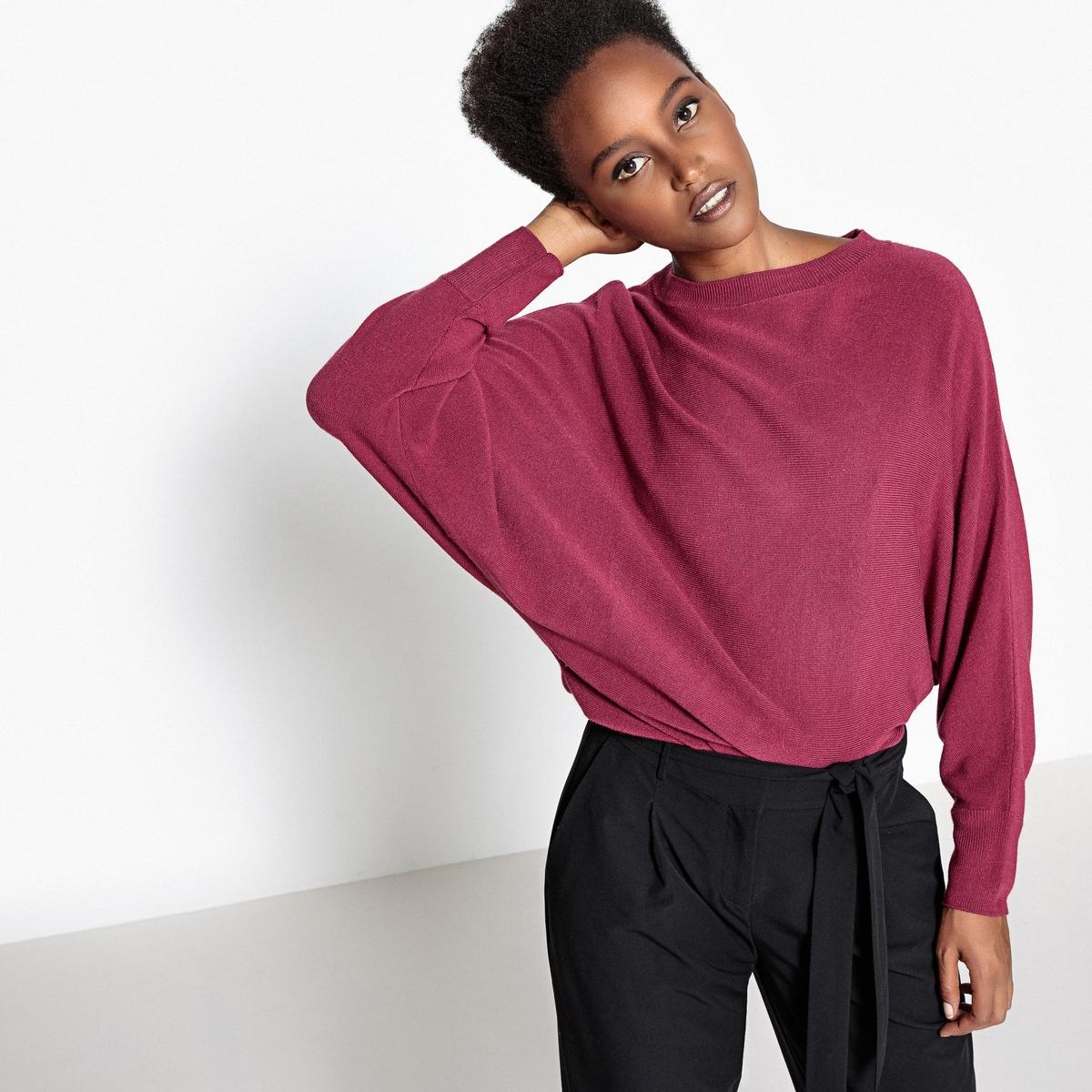 Пуловер c рукавами летучая мышь