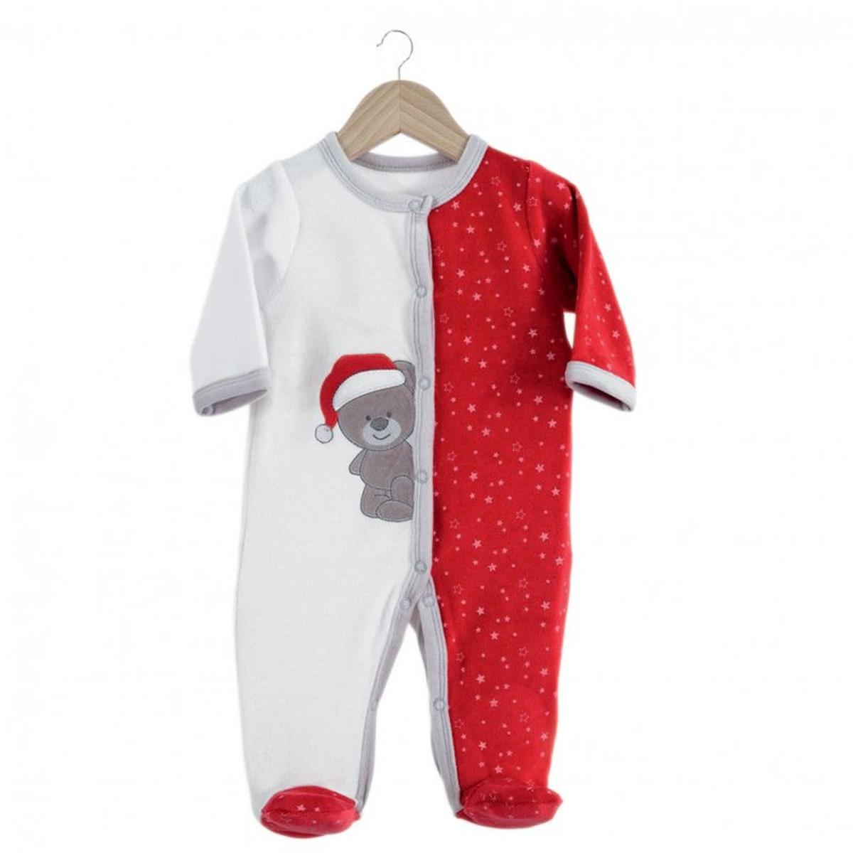 Pyjama bébé  Mon 1er Noël  avec bonnet en velours