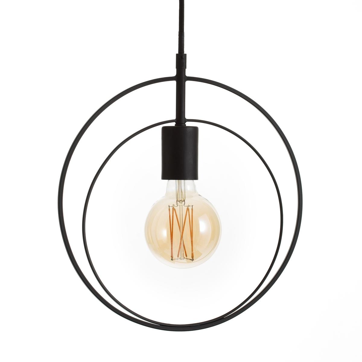 Светильник TourbilleСветильник Tourbille. строгий и элегантный светильник с 2 металлических ободами .Прекрасно смотрится с лампочкой с декоративной нитью, продающейся на сайте . Характеристики : - Из металла  Патрон E27 для лампочки с экономией энергии макс. 15 Вт( не входит в комплект) - Совместима с лампами класса энергопотребления AРазмеры : - L31 x H135 x P11 см<br><br>Цвет: черный<br>Размер: единый размер