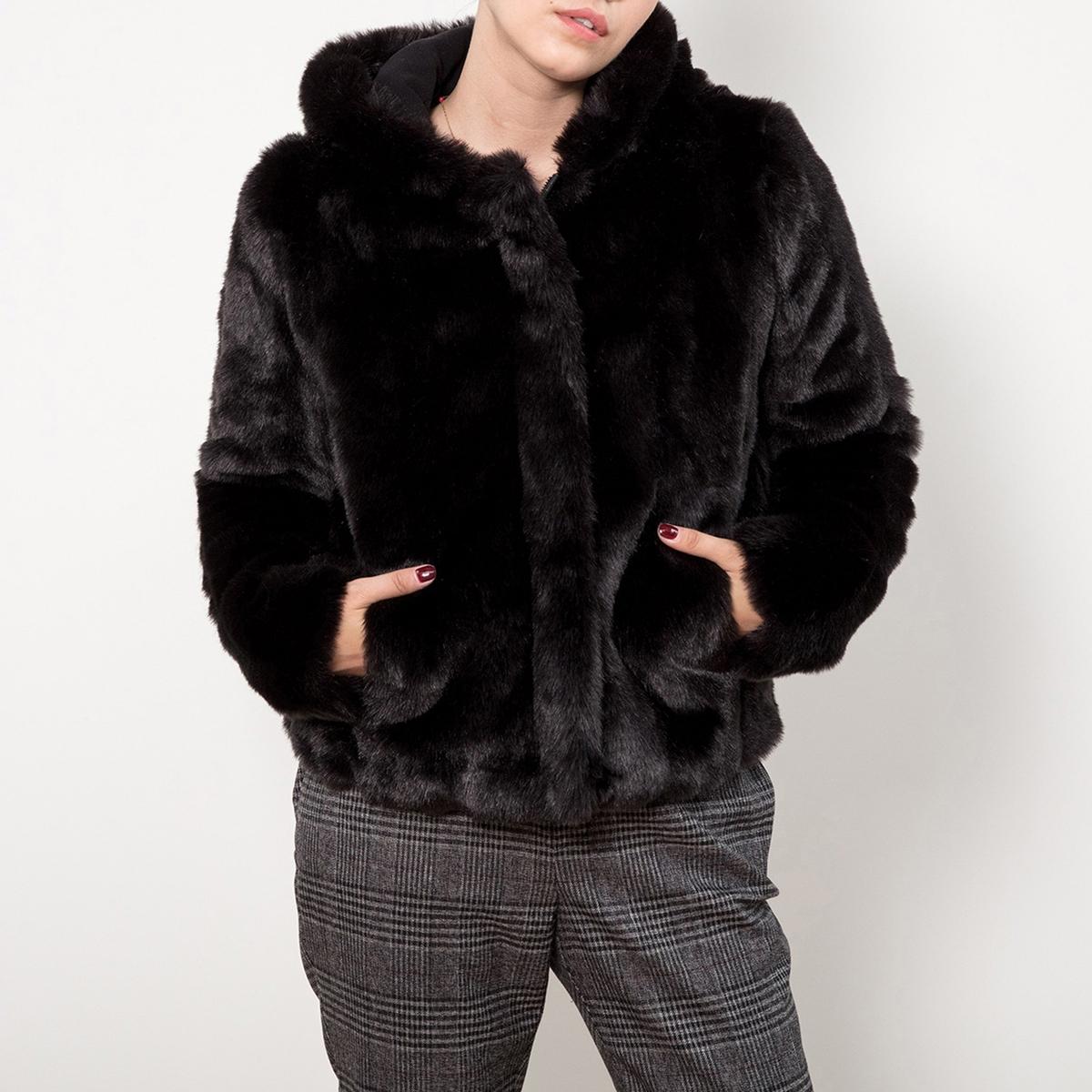 Пальто короткое из искусственного меха пальто из искусственного меха