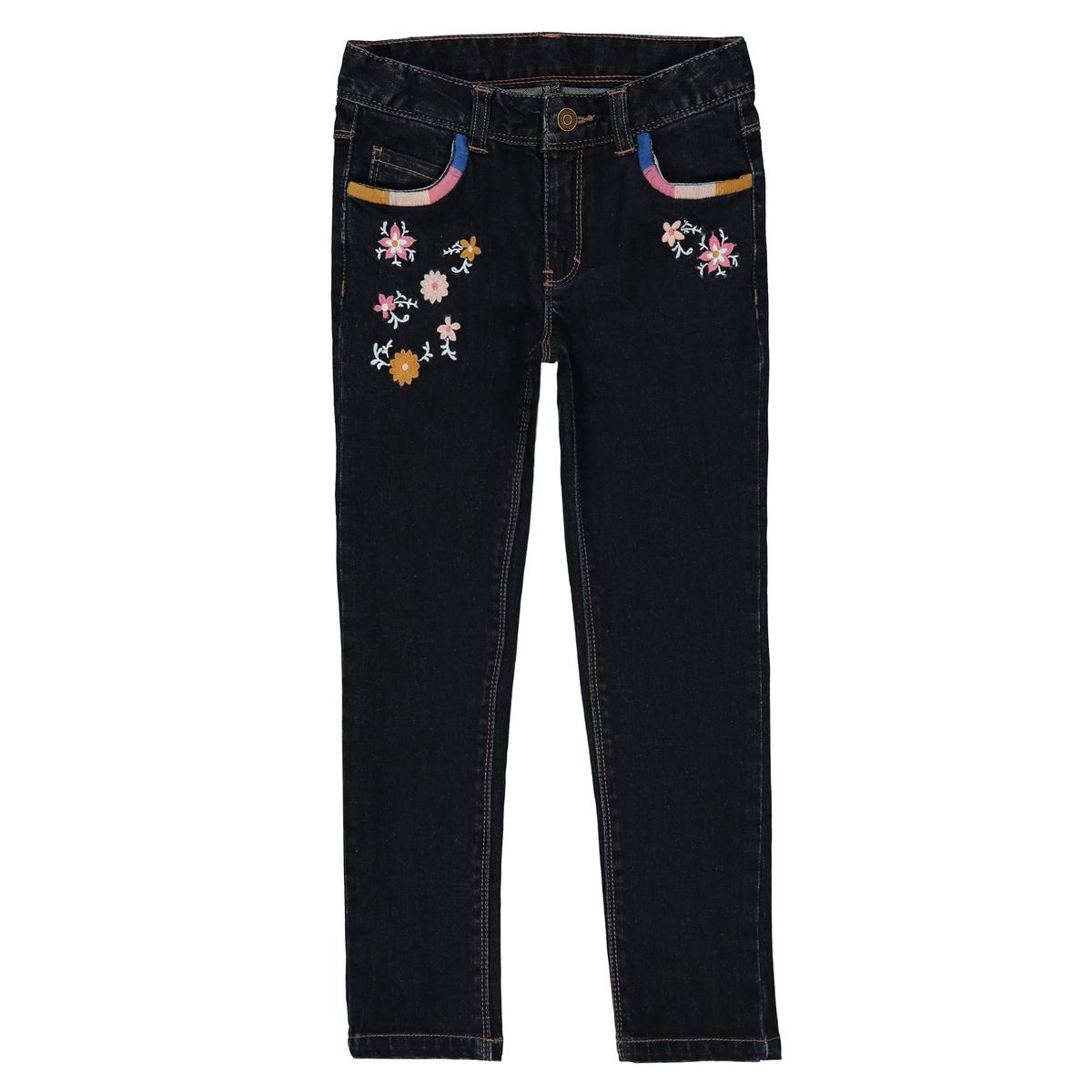 Jeans skinny ricamato 3 - 12 anni