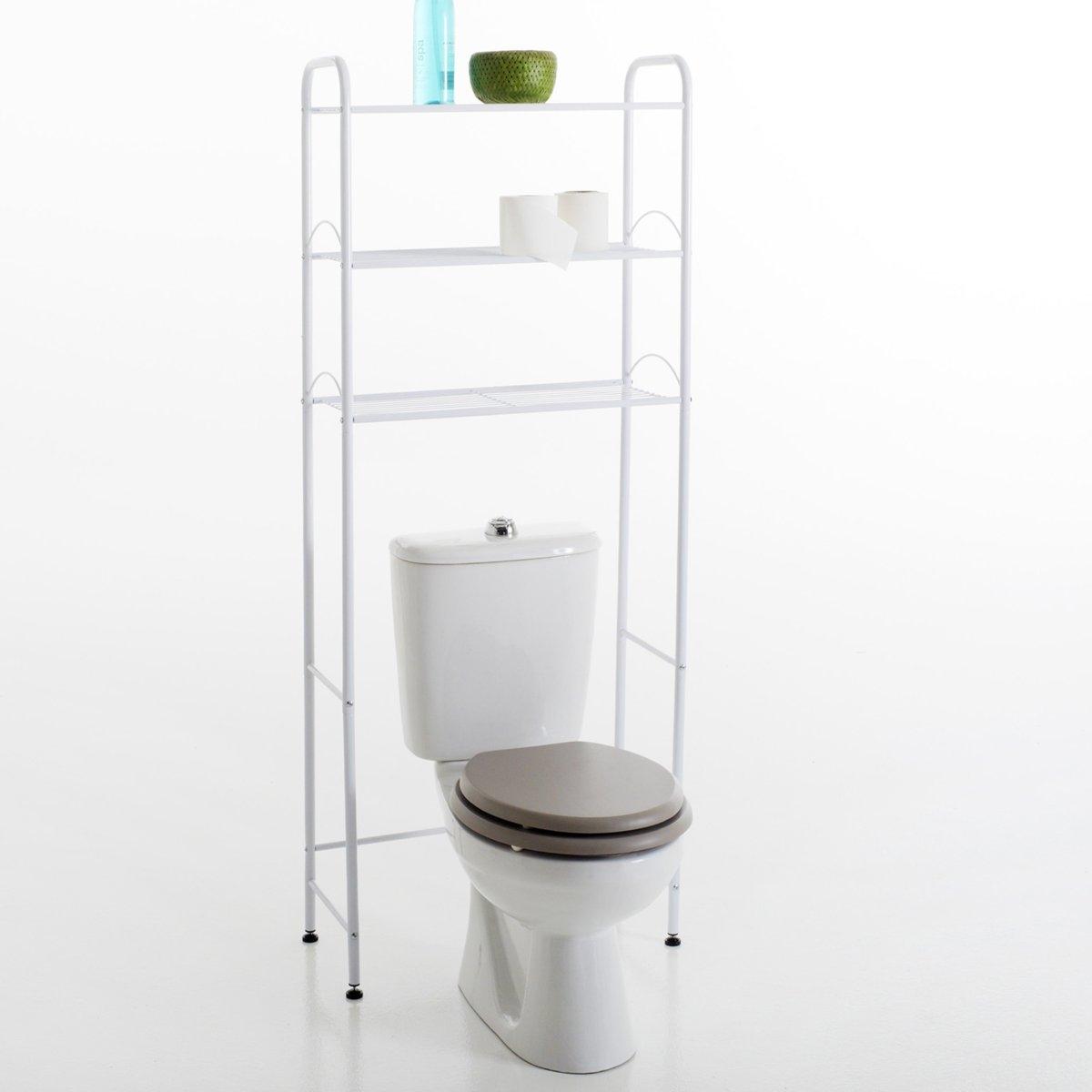 Полка для туалета, 2 цветаХарактеристики :- Каркас из металла.- Состоит из 3 этажерок при размещении унитаза внизу .Мебель готова к сборке согласно инструкции.Размеры :- Размер. общие : 61 x 155 x 28 см .<br><br>Цвет: белый