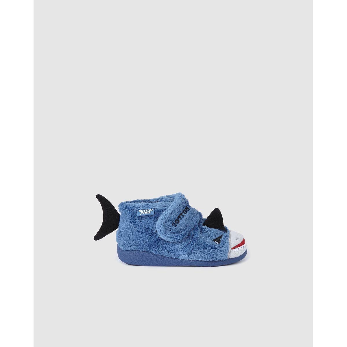 Chaussons Cotton Juice fermés à requins brodés