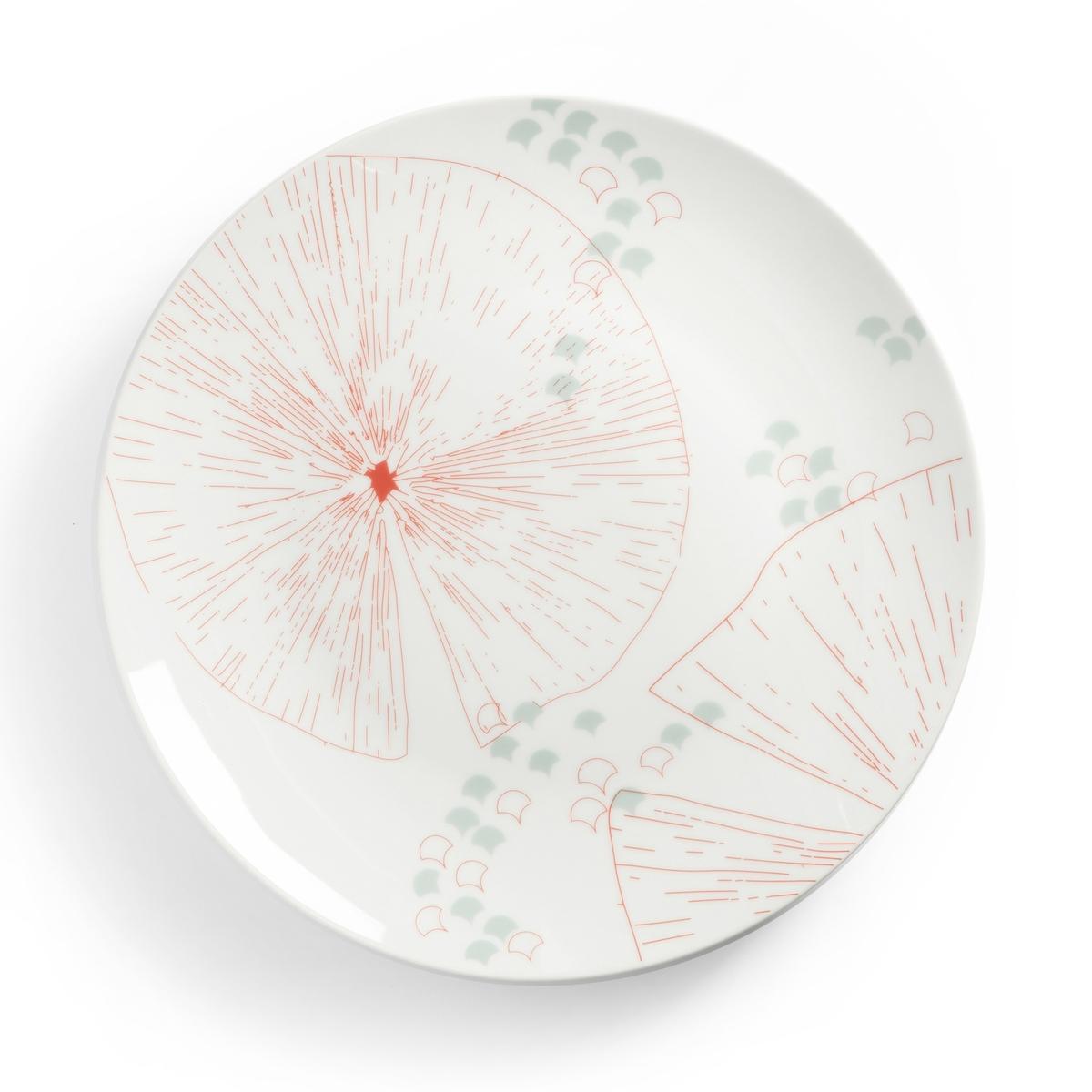4er-Set flache Teller AKINA | Küche und Esszimmer | Porzellan | La Redoute Interieurs