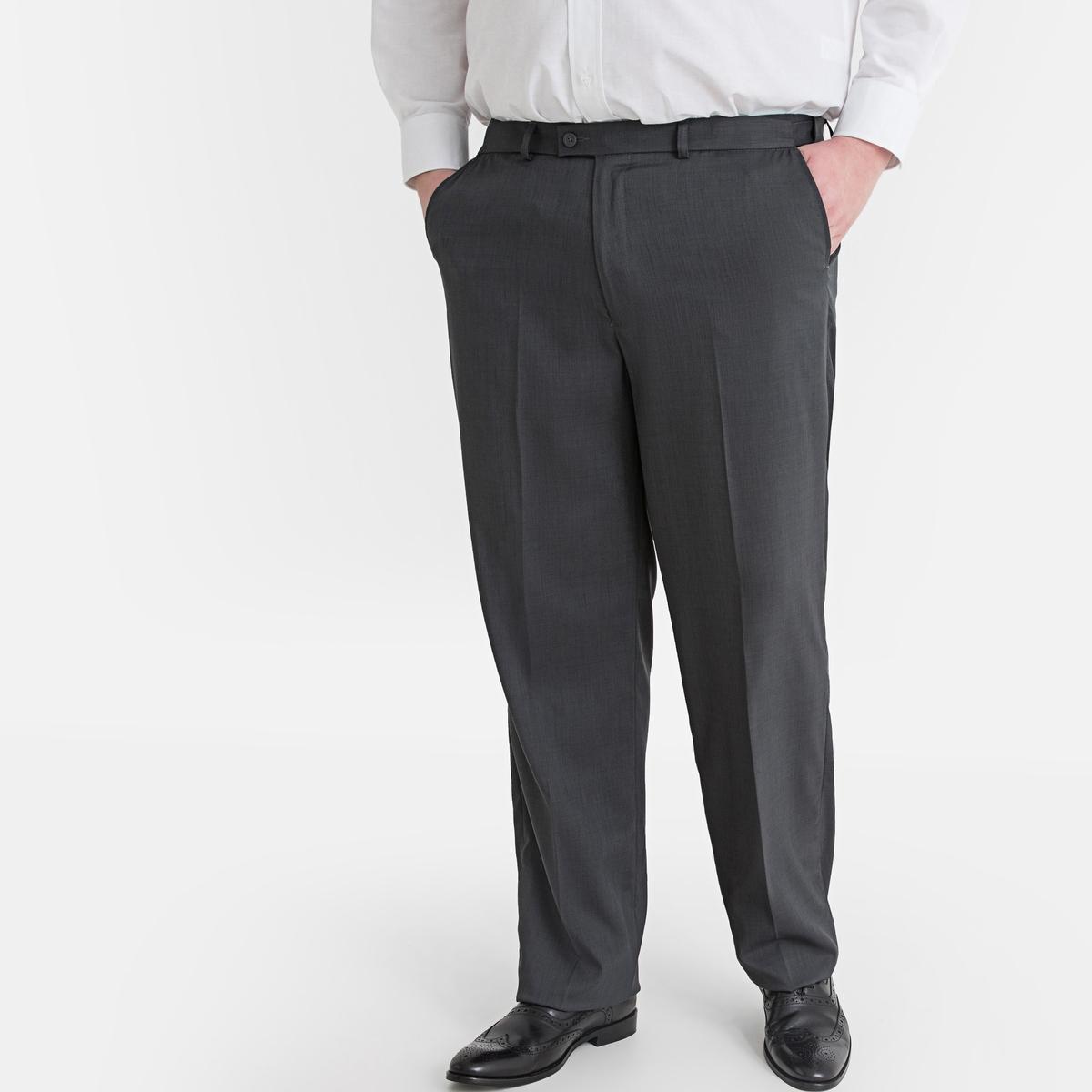 Фото - Брюки LaRedoute Регулируемые прямого покроя 62 серый юбка laredoute джинсовая прямого покроя xs синий