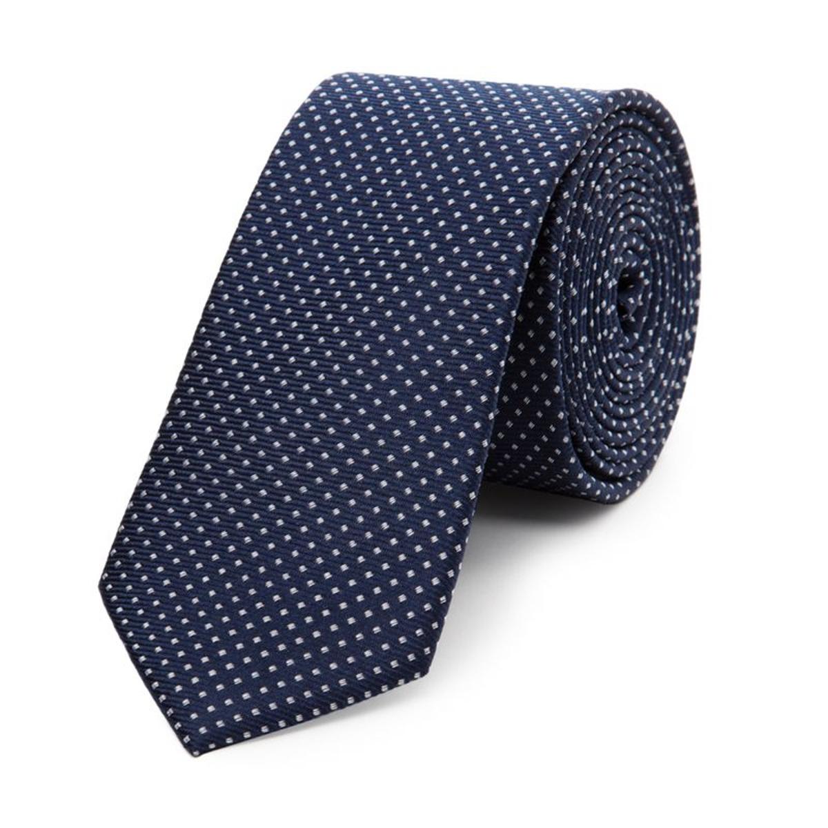 Cravate fine en pure soie à pois