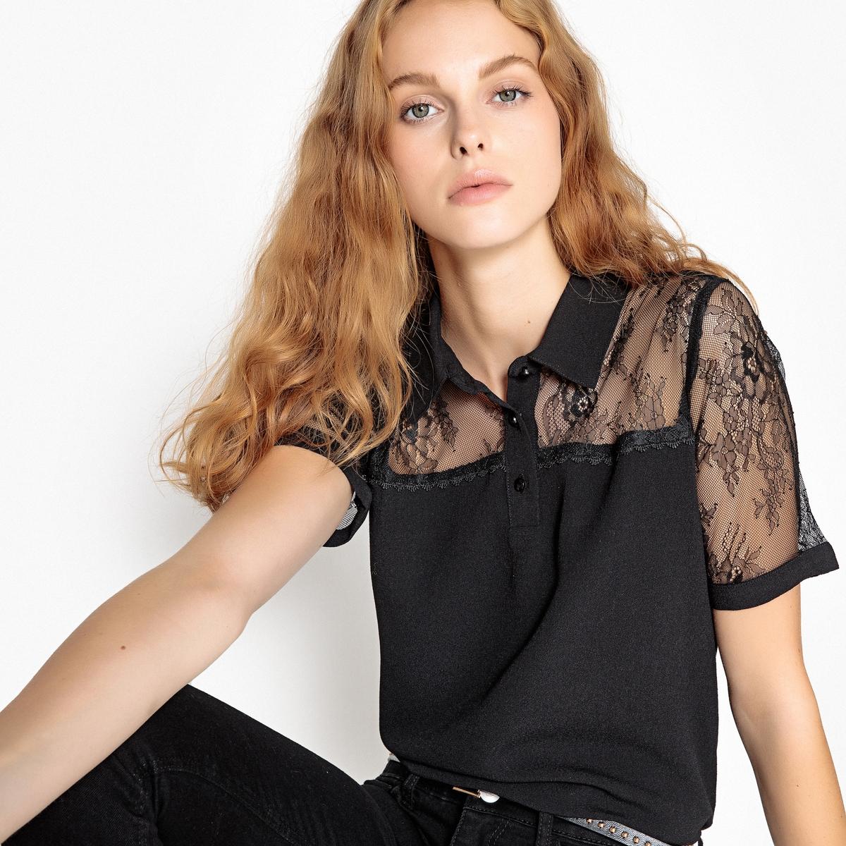 Рубашка с кружевной вставкой платье без рукавов с кружевной вставкой на спинке
