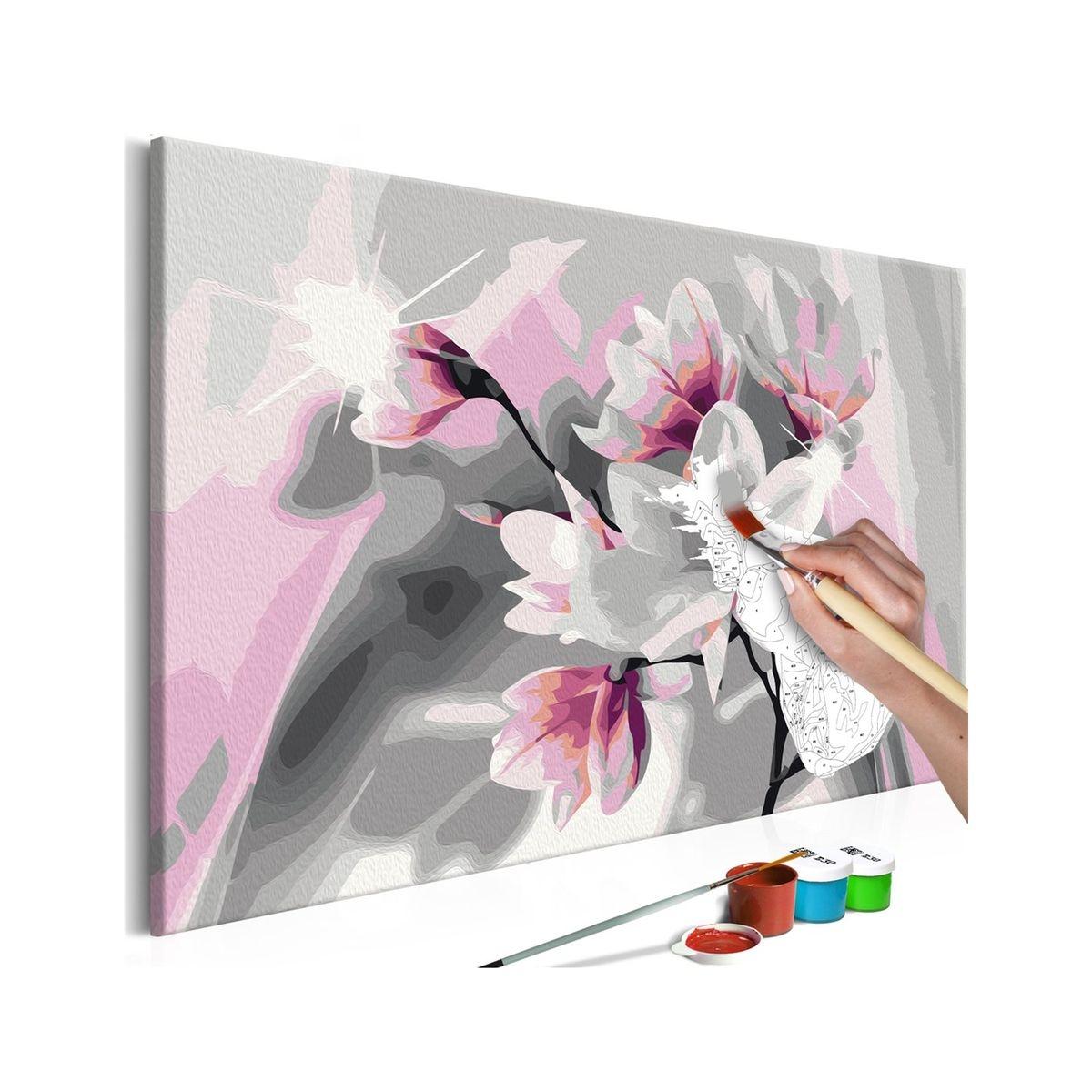 Tableau à peindre soi-même - Magnolia (fond )