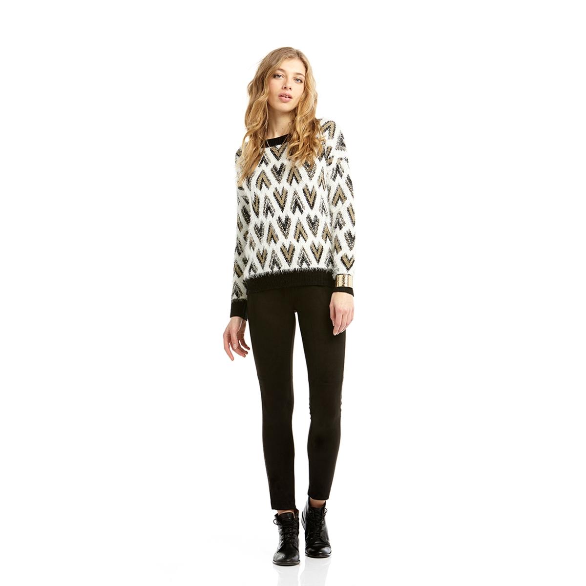 Пуловер с высоким воротником и геометрическим рисункомСостав и описание:  Марка:       CHARLISE.Материал:      40% мохера, 37% полиамида, 23% акрила.<br><br>Цвет: хаки/ белый<br>Размер: M