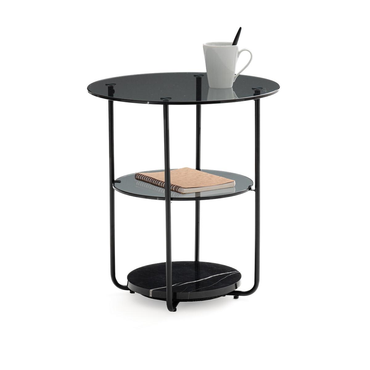Столик La Redoute Для изголовья с 3 столешницами Moricio единый размер черный