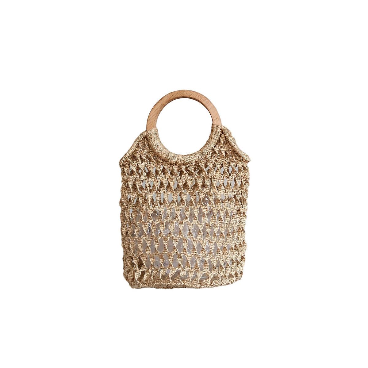Фото - Сумка-шоппер LaRedoute Из джута CORA единый размер бежевый сумка шоппер laredoute из льна с блесками единый размер синий