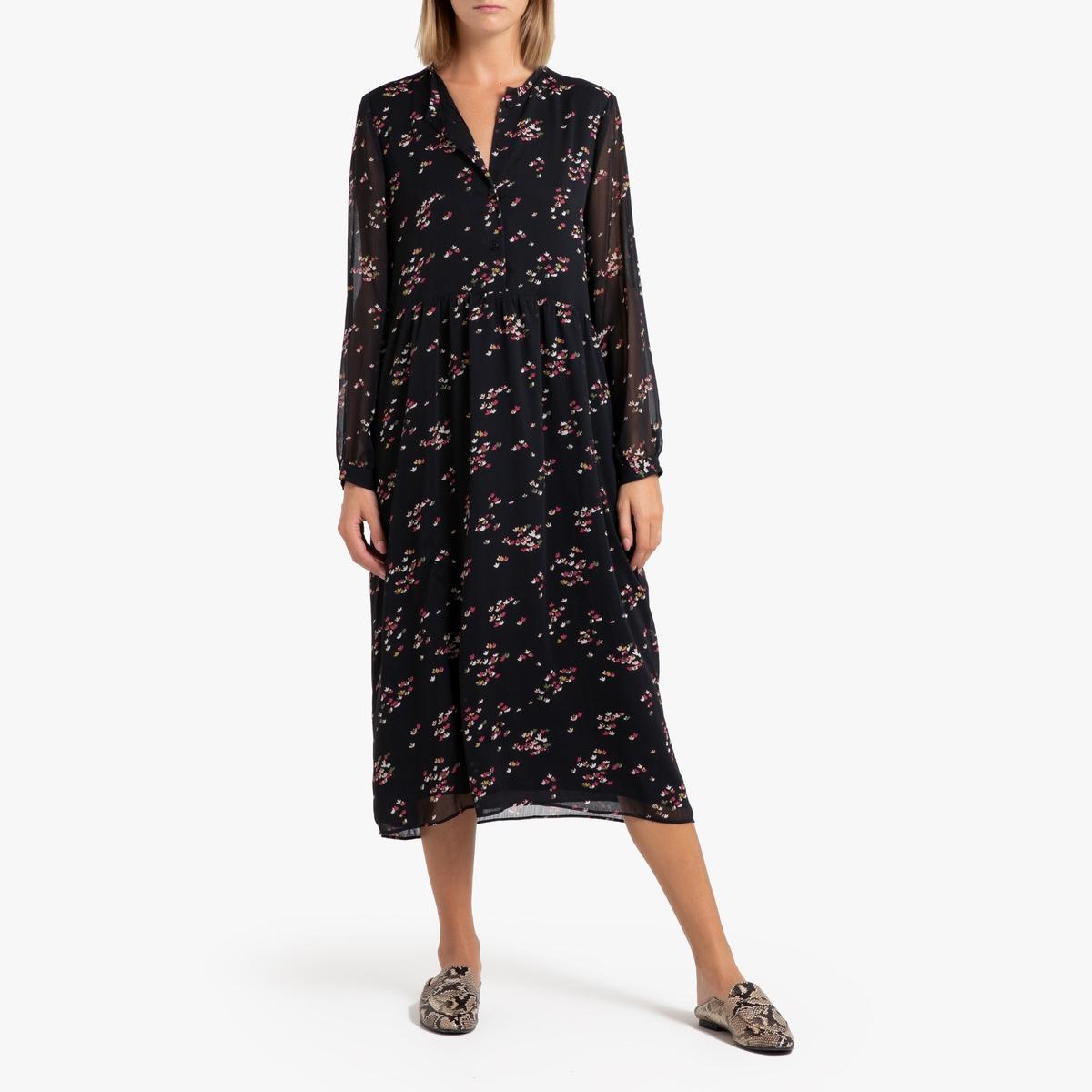 Платье La Redoute Длинное с рисунком COMETTE M черный