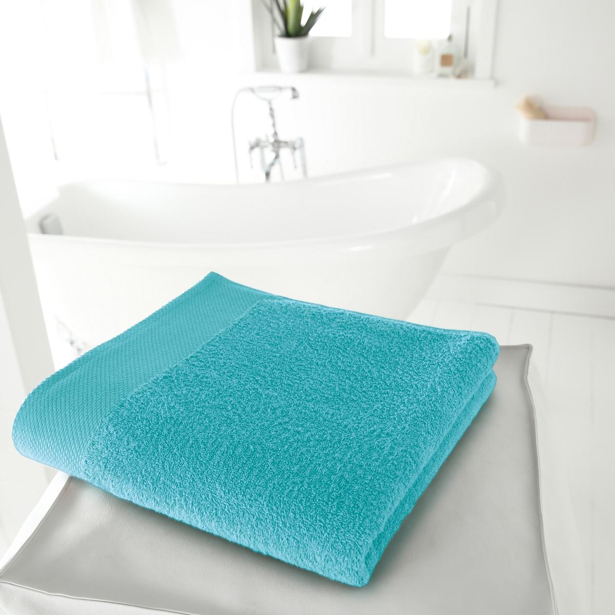 Полотенце банное большое, 420 г/м?Мягкая махровая ткань, 100% хлопка, 420 г/м?. 100% хлопка. Кайма крупинки. Размер: 100 х 150 см.    Стирка при 60°. Превосходная стойкость цвета. Машинная сушка.<br><br>Цвет: голубой бирюзовый