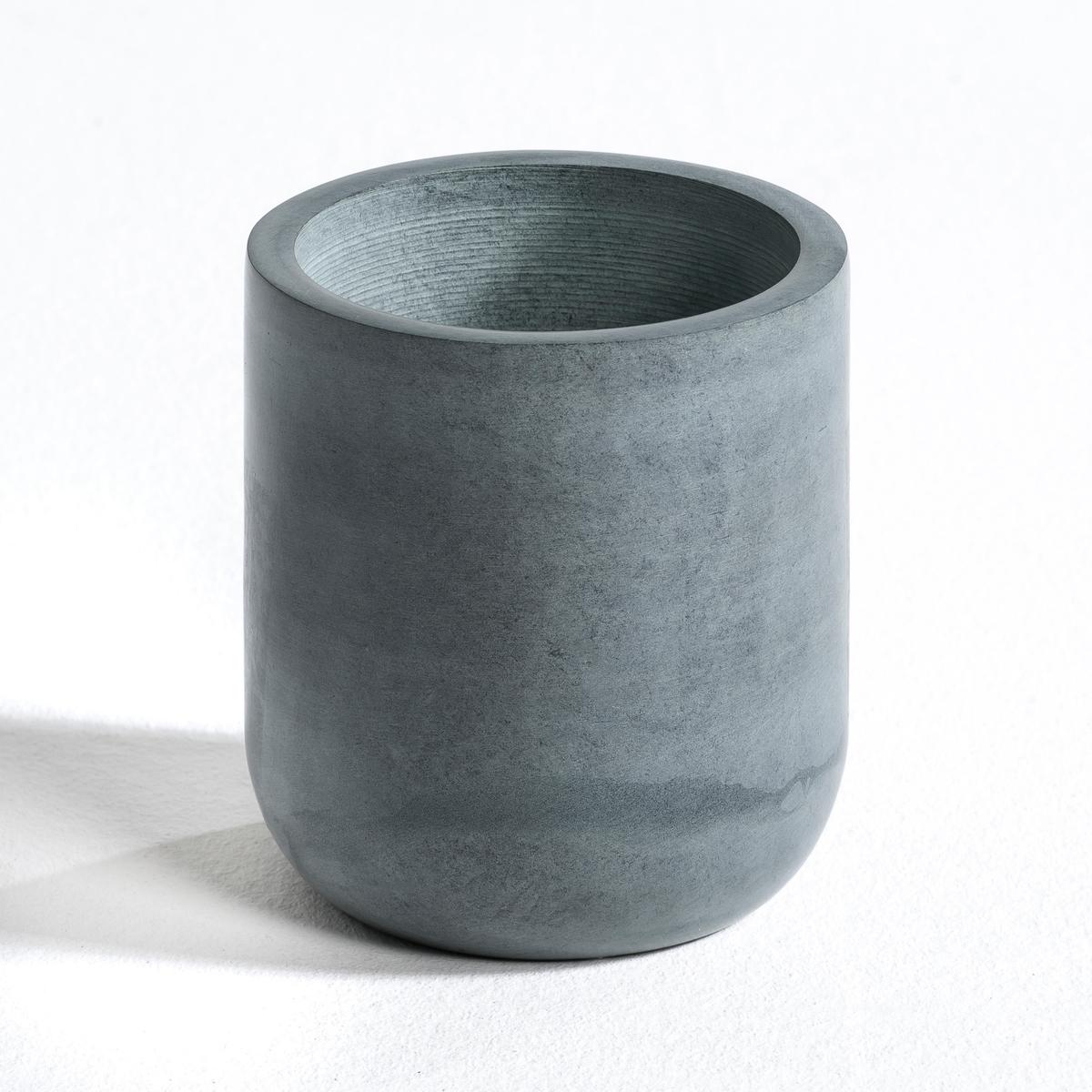 Горшок цветочный круглый из сапонита, Ingmar, высокая модель