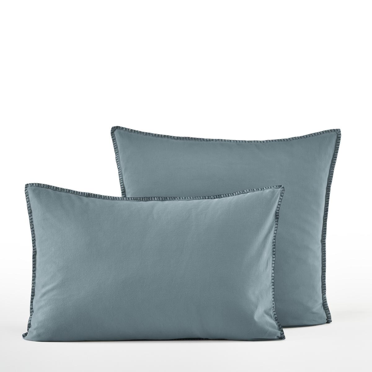 Наволочка La Redoute Из хлопкового сатина Lana 65 x 65 см синий наволочка la redoute flooch 50 x 30 см бежевый