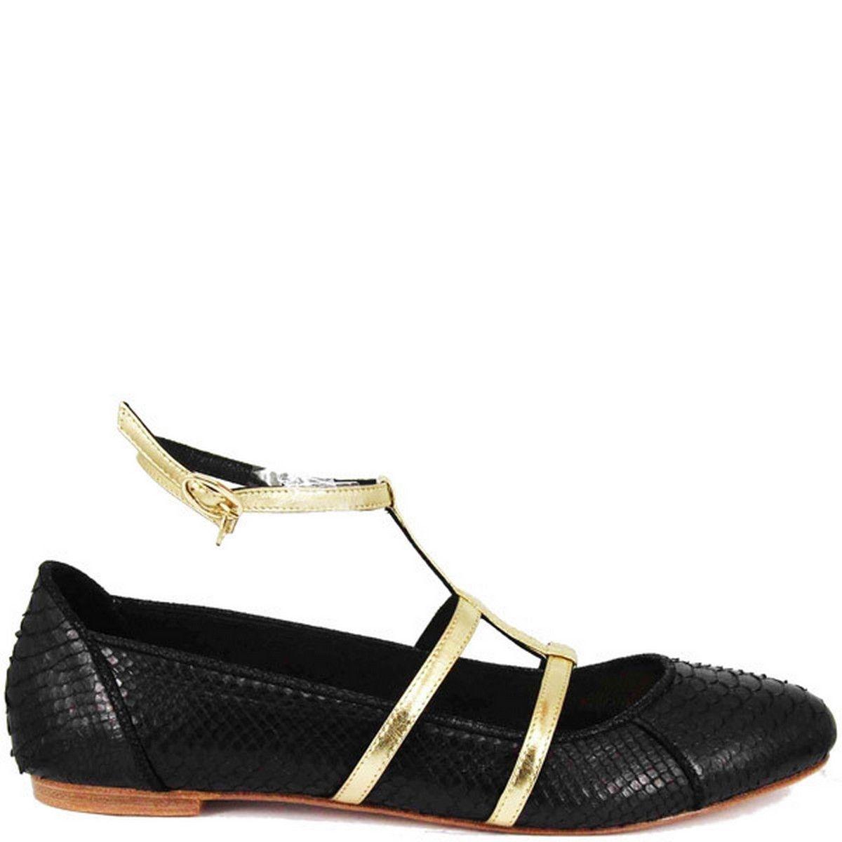 Chaussures femme en cuir BALLERINA