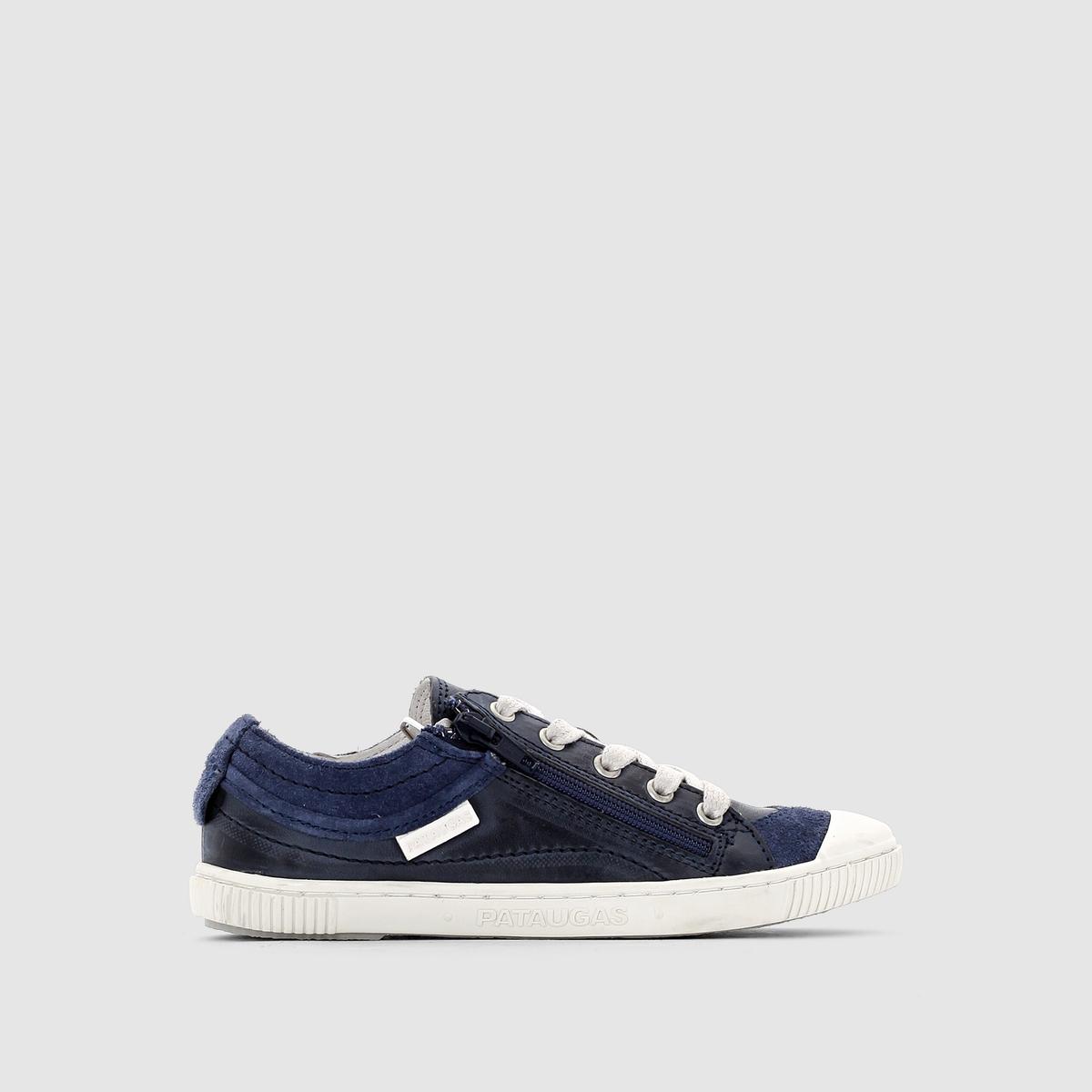 Кеды низкие BISK - PATAUGASЗастежка: на шнуровке.Преимущества: одновременно простое и модное сочетание кожи и текстиля - кеды от Pataugas можно узнать с первого взгляда!<br><br>Цвет: синий<br>Размер: 31