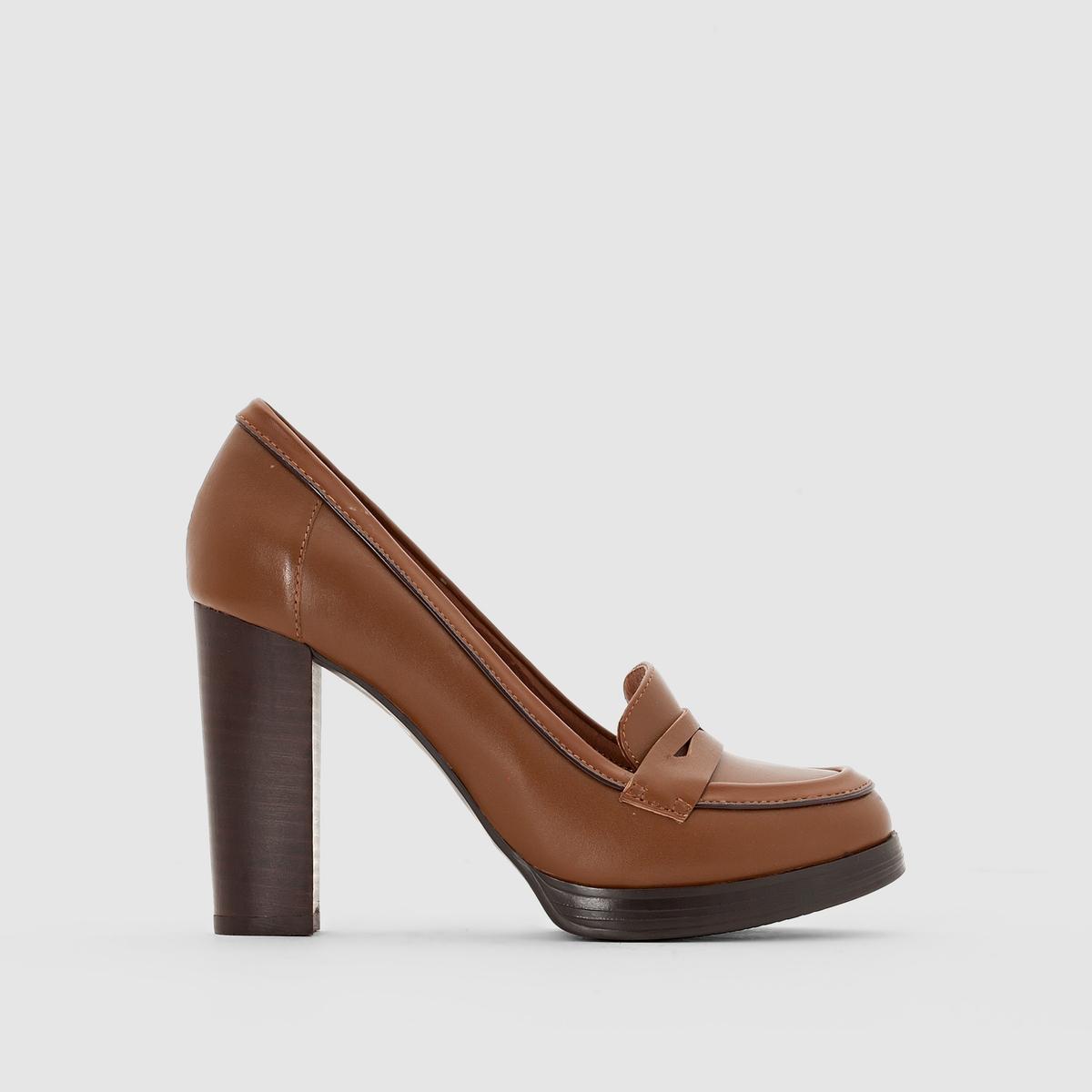 Туфли-мокасины кожаные