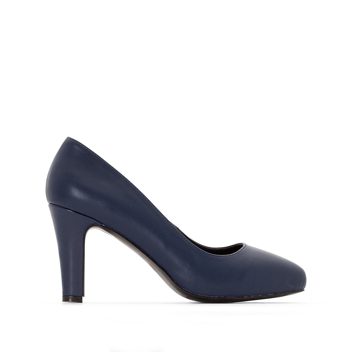 zapatillas Zapatos de piel con tac?n y plataforma, pie ancho, del 38 al 45