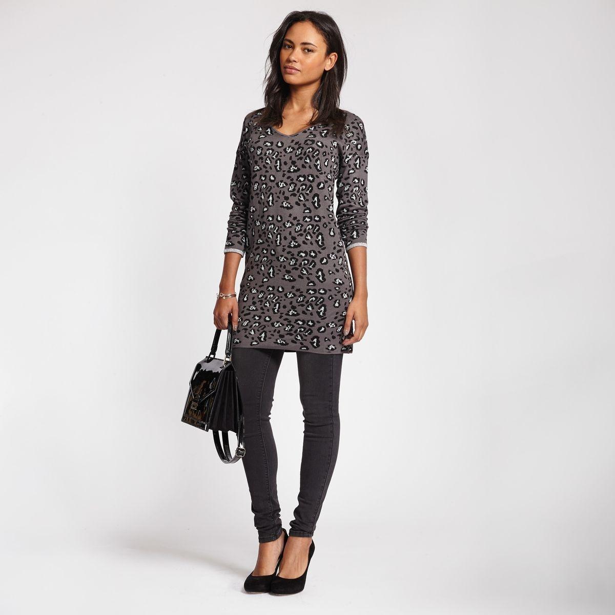Pull long motif léopard