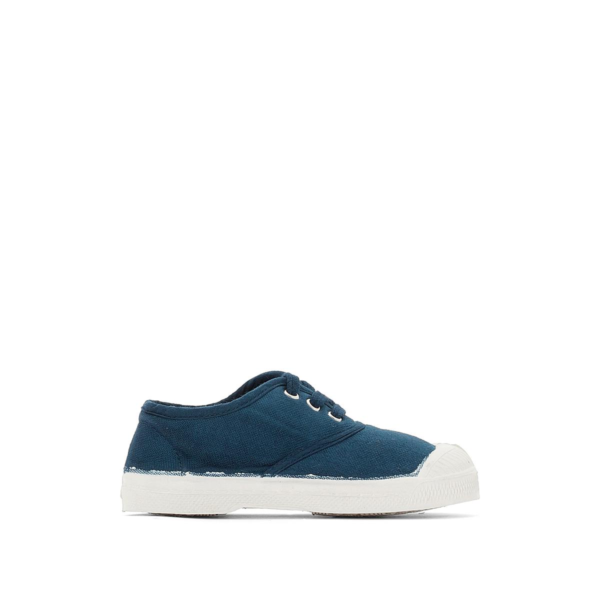 Кеды базовые на шнуровкеПодкладка : хлопок             Стелька : хлопок             Подошва : каучук             Форма каблука : плоский             Мысок : закругленный мысок             Застежка : шнуровка<br><br>Цвет: голубой бирюзовый<br>Размер: 35