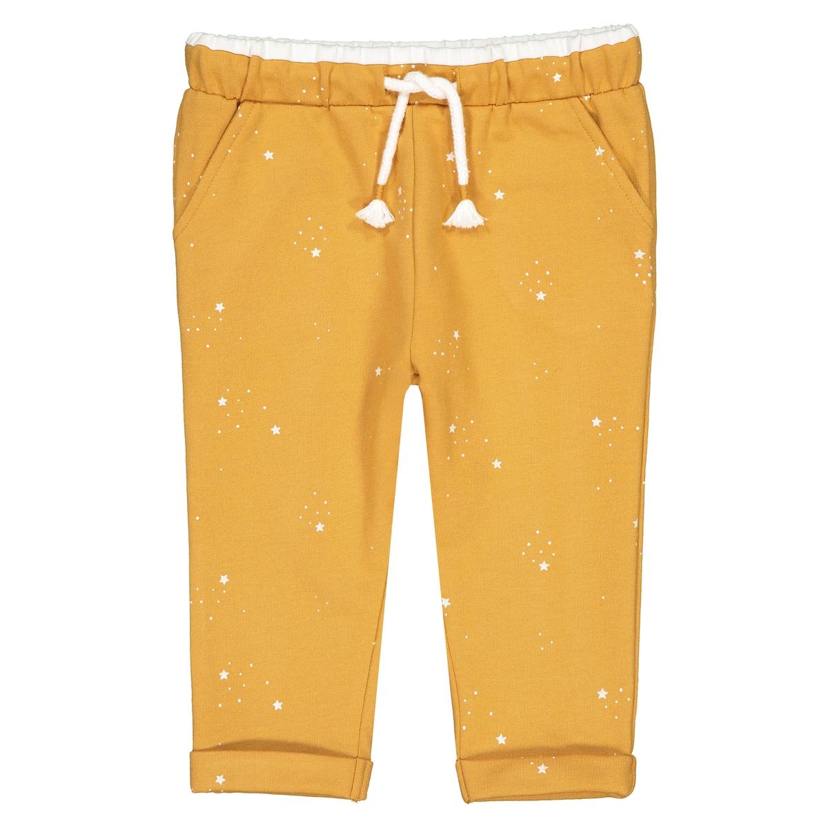 Брюки La Redoute Из мольтона с принтом звезды мес- года 18 мес. - 81 см желтый шорты la redoute из велюра мес года 18 мес 81 см розовый