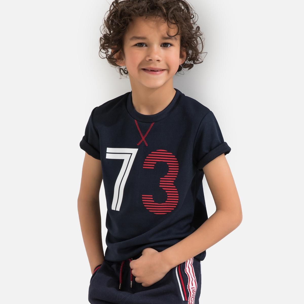 Футболка La Redoute Спортивная 3 года - 94 см синий спортивная футболка lining ahsh963 1 2 3