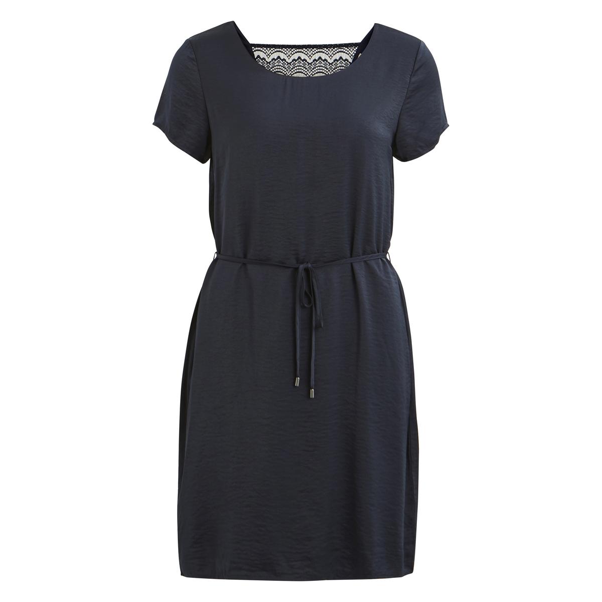 купить Платье-миди расклешенное с короткими рукавами по цене 2204.3 рублей