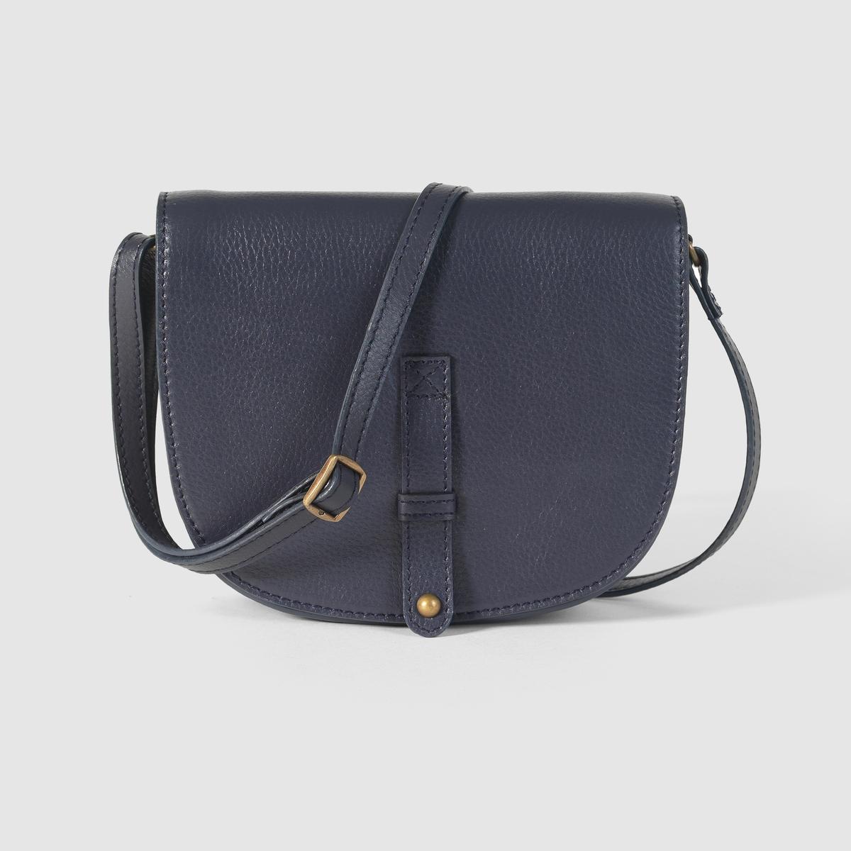 Сумка женская через плечо из кожиЖенская сумка из кожи. Материал : яловичная кожаОписание : внутренняя отделка из текстиля, внутренний карман, регулируемый ремень, магнитная застежка. Размеры : 16 x 20 x 5 см.Элегантная и привлекательная модель.<br><br>Цвет: синий морской,темно-бежевый<br>Размер: единый размер.единый размер