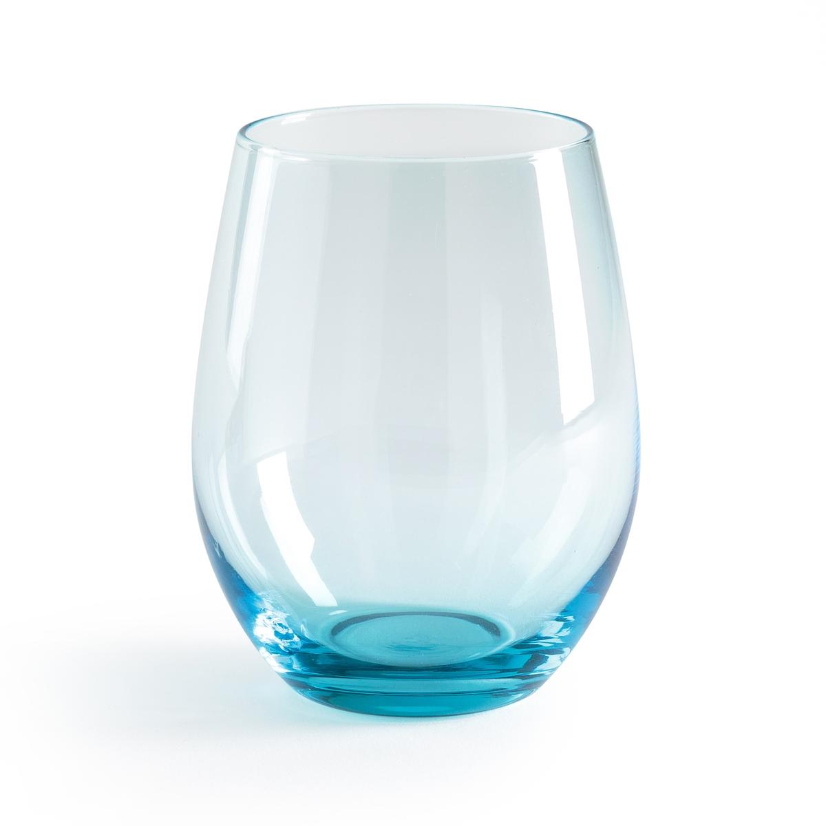 Комплект из 6 стаканов Nubia6 стаканов Nubia. Выбирайте стаканы из синего стекла для оригинальной нотки или из прозрачного стекла для чистоты. Из прозрачного или синего стекла. Размеры: ?9 x В11 см. Подходят для использования в посудомоечной машине.<br><br>Цвет: прозрачный,синий