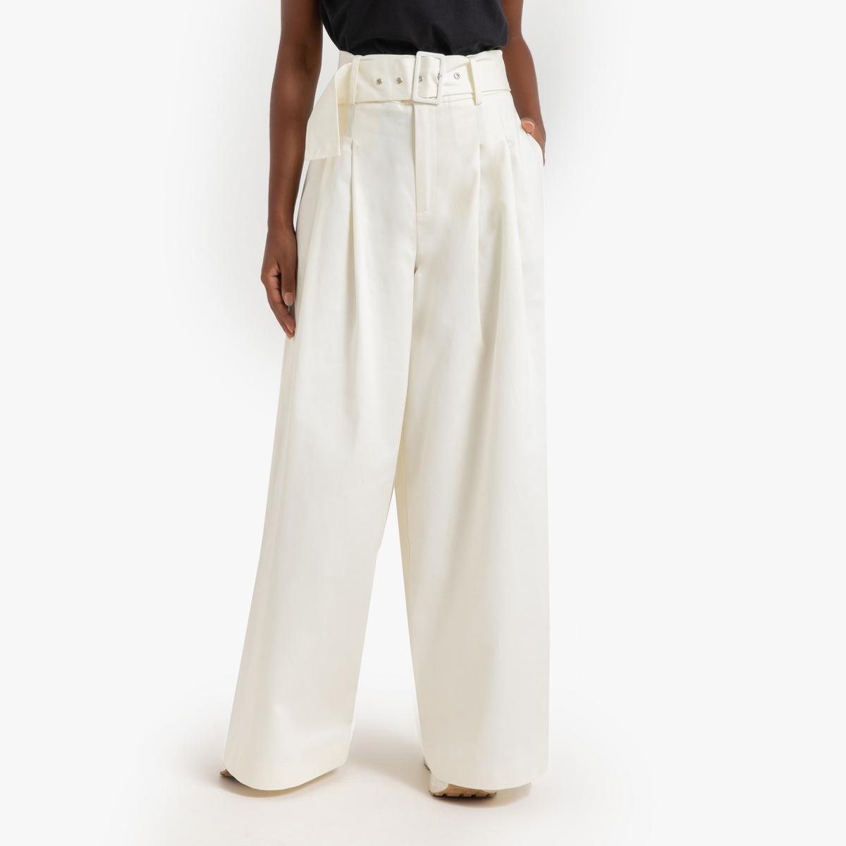 Pantalón maxi ancho, con cinturón