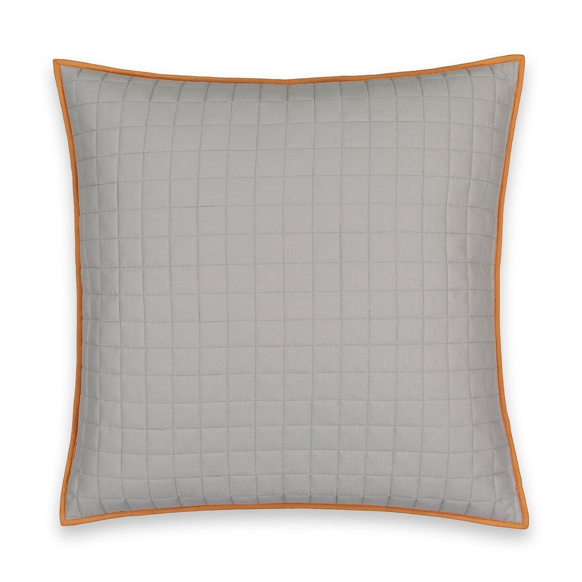 Чехол LaRedoute На подушку стеганый двухсторонний из 90 хлопка и 10 вискозы Square 65 x 65 см серый