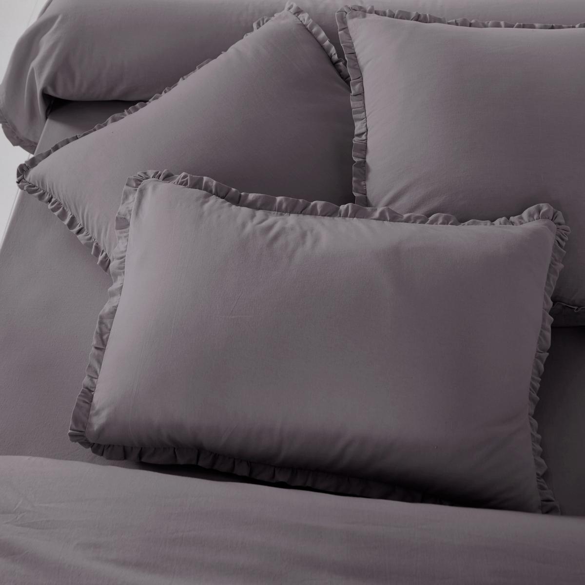 Наволочка на подушку-валик из смешанной стиранной ткани , OndinaОписание наволочки на подушку-валик Ondina :- Смешанная ткань 55%хлопка, 45% льна, аутентичная и прочная стиранная ткань для еще большей мягкости и эластичности ..Машинная стирка при 60 °С.- Отделка двойным воланом, со складками.  Размеры на выбор :85 x 185 см<br><br>Цвет: светло-бежевый,серо-фиалковый<br>Размер: 85 x 185 см.85 x 185 см