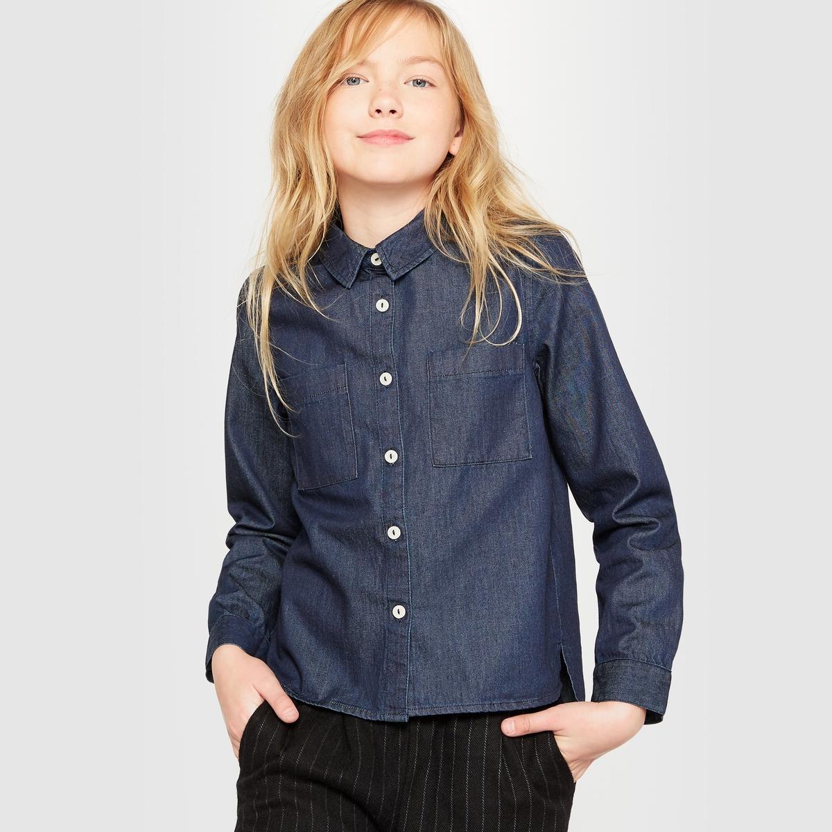 Рубашка джинсовая на 10-16 лет