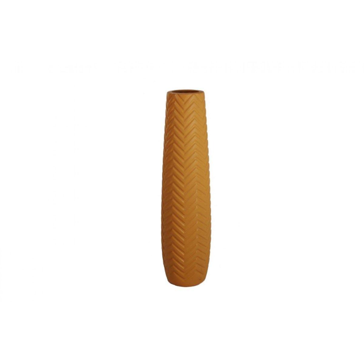 Vases Décor Géométrique Jaune Moutarde ELOQUENCE 78 cm