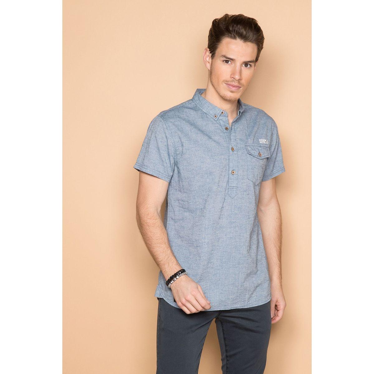 Chemise à demi-patte manches courtes CIGARSON