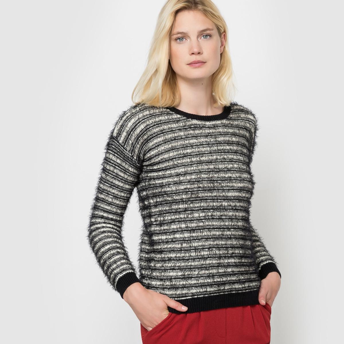 Пуловер с длинными рукавами, SUNAСостав и описаниеМарка: PEPE JEANS.Модель: SUNAМатериал: 50% хлопка, 50% полиамида.<br><br>Цвет: черный/ белый
