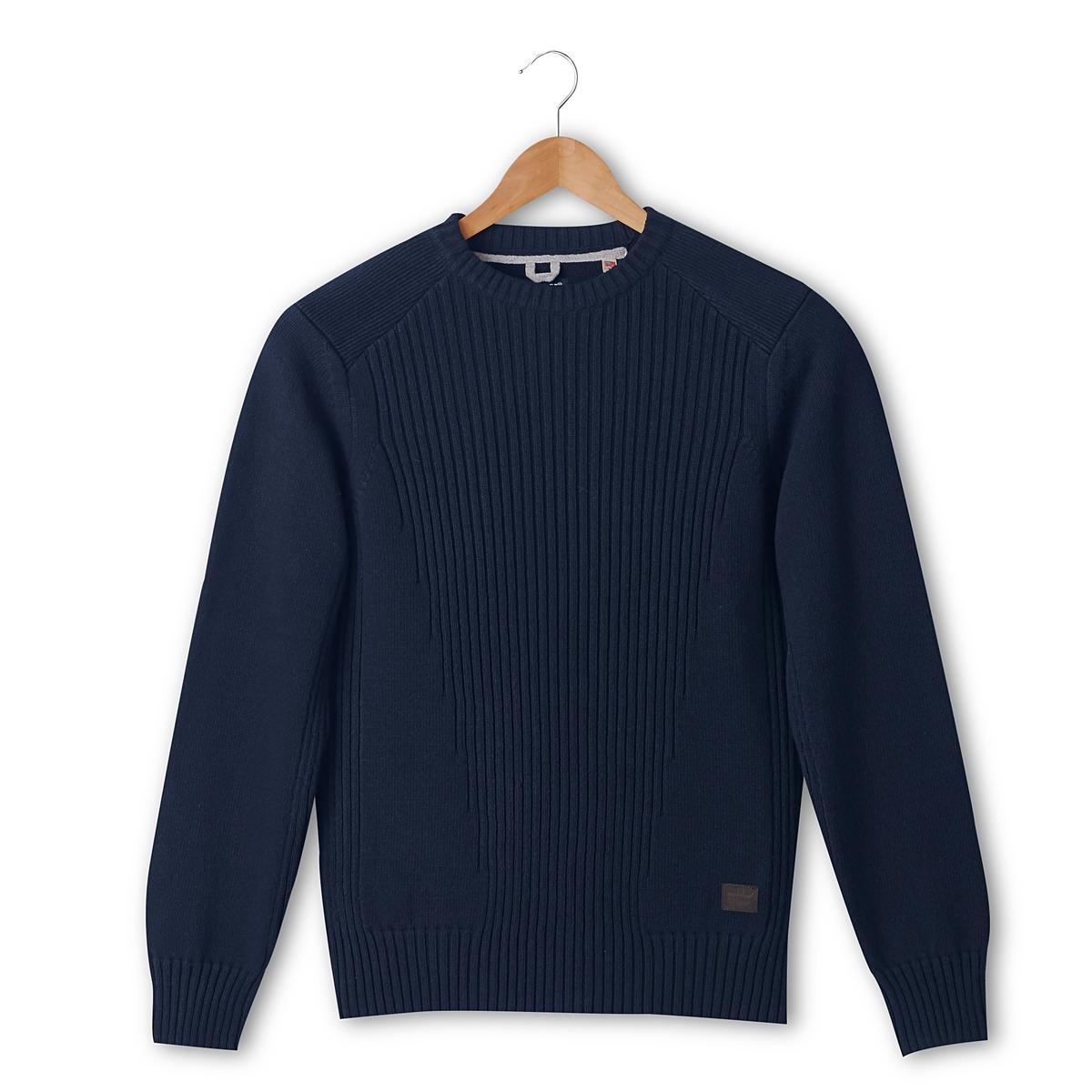 Пуловер классическийДетали •  Длинные рукава  •  Круглый вырез •  Плотный трикотаж Состав и уход •  50% акрила, 50% хлопка •  Следуйте советам по уходу, указанным на этикетке<br><br>Цвет: синий морской,черный