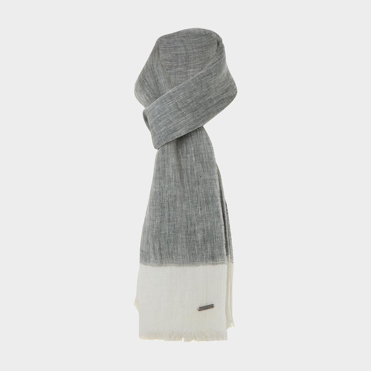 Foulard color block en lin - NAPOLY
